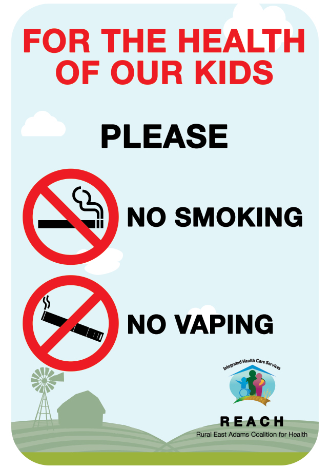 No Smoking|No Vaping Playground Signs